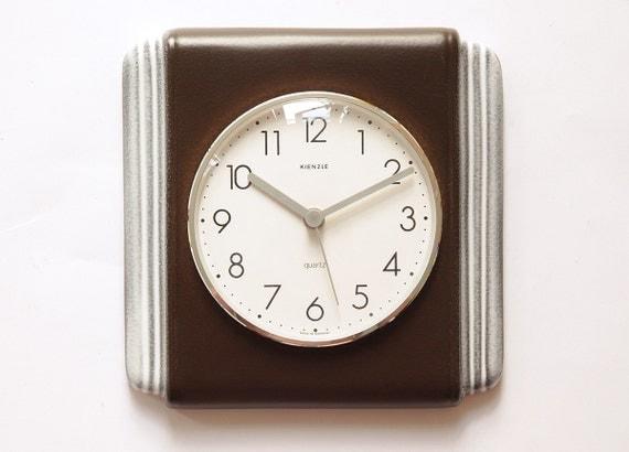 excellent 70s kienzle germany ceramic wall kitchen clock