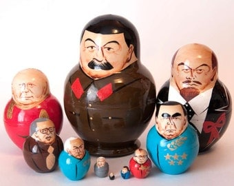 Stalin nesting doll and other Russian Political leaders matryoshka babushka z4