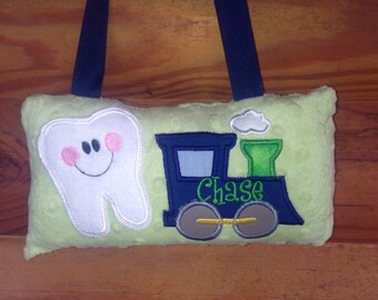 Personalized Train Tooth Fairy Pillow