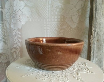 Small Brown Stoneware Bowl