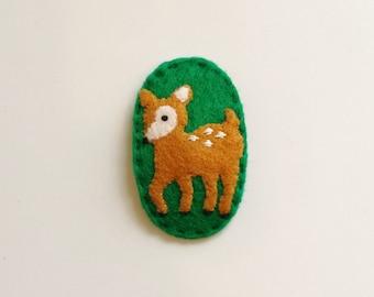 Bambi / Deer Felt Hair Pin