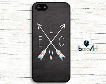 iPhone Case - Love arrows on chalkboard - iPhone 4/4s iPhone 5 iPhone 5c iPhone 5s iPhone 6 iPhone 6 Plus iPhone 6s iPhone 6s Plus iPhone SE