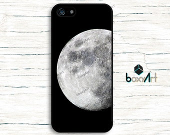 iPhone Case - Moon - iPhone 4/4s iPhone 5 iPhone 5c iPhone 5s iPhone 6 iPhone 6 Plus iPhone 6s iPhone 6s Plus iPhone SE