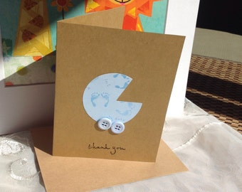 Baby Shower thank you cards, Thanks you cards,  Set of 12, Thank You baby cards
