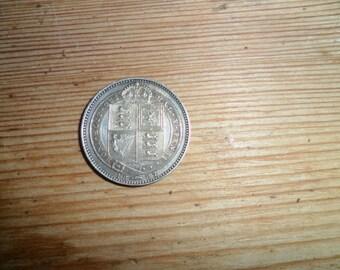 1887, Silver Shilling, Silver Jubilee. British Coin