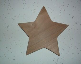 Unfinished Wood Star, Wooden Star, Star Cut Out, Star Shape, Star, Stars, Star Ornament, Holiday Ornament, Tree Ornament