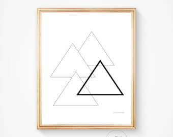Abstract art, Modern print, geometric art print, Triangles print, Geometric print, Home decor, Wall decor, Minimalist print,Scandinavian art