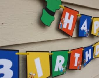 Goofy Happy Birthday Banner,Disney Goofy,