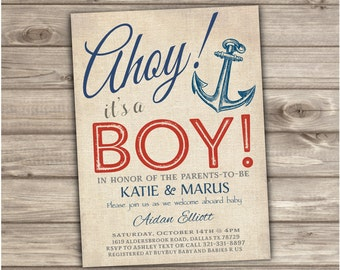 Ahoy its a boy invitations Etsy