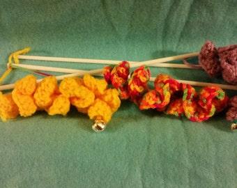Swizzle Teaser Stick, Teaser Wand, Cat Toy, 100% Handmade