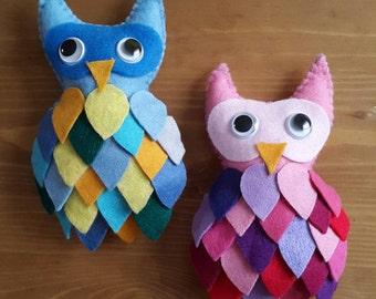 Handmade Plush Owls