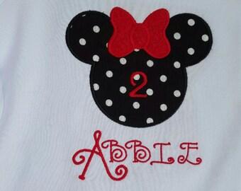 Minnie Mouse Sillhouette Tee Shirt