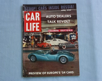 Car Life Magazine, April 1954, Preview of Europe's '54 Cars