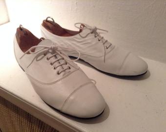 C5 Derbies zizi r Gainsbourg very soft white leather - size 41