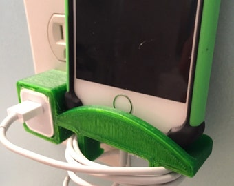 Iphone charging station  vertical - 3D printed pick your color