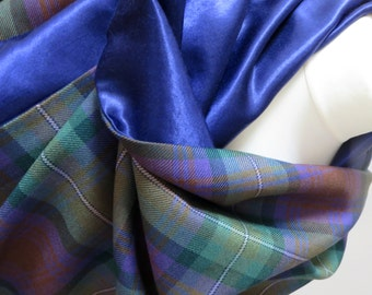 Sing me a song of a lass that is gone... a special shawl in Isle of Skye tartan, fully lined. Made to order in the UK.