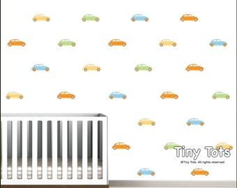 Vinyl Wall Decals, Car Pattern Wall with Wall Decals, Wall Stickers-Nursery Wall Decals