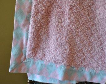 Pink fuzzy blankie