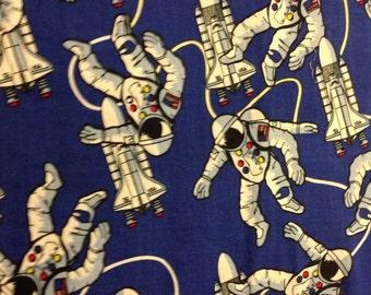 Astronaut and rocket pillowcase