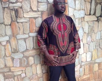 Men's Dashiki Caftan/ Dashiki/ Dashiki Shirt, African Print , Wax Print, African Shirt, Men's shirt, Kaftan