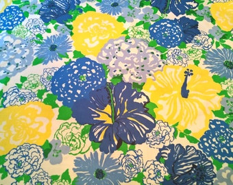 Lee Jofa LILLY PULITZER Heritage Floral Blues Yellows Greens 540 By The Yard!