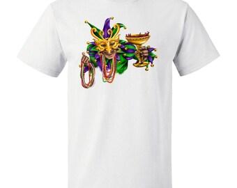 Mardi Gras Jester T-Shirt by Inktastic
