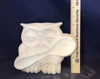 Owl spoon Rest-Ready to Paint