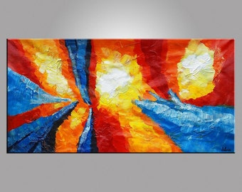 Abstract Art, Wall Art, Oil Painting, Original Painting, Wall Painting, Canvas Art, Large Painting, Pallete Knife Painting, Heavy Texture