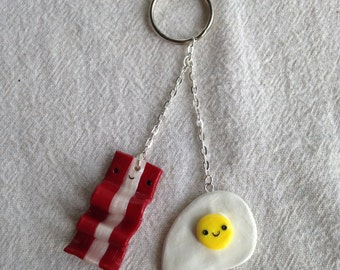 Breakfast food keychain