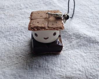 Cute s'more cellphone charm