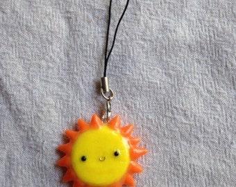 Cute sun cell phone strap charm
