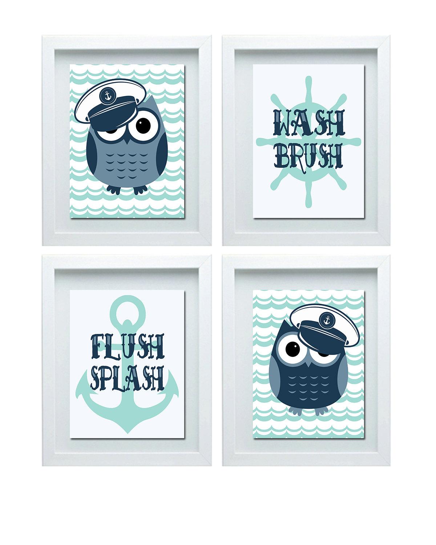 Bathroom Decor Owls: Owl Bathroom Decor Bathroom Rules Boys Bathroom Rules Boys