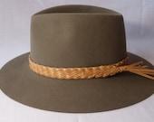 10 strand kangaroo leather hat band