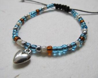 Heart bracelet, love bracelet
