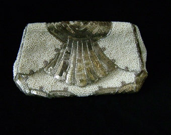 Antique beaded clutch evening purse
