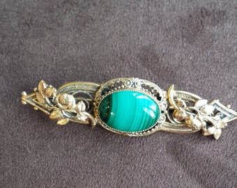 Vintage malachi brooch