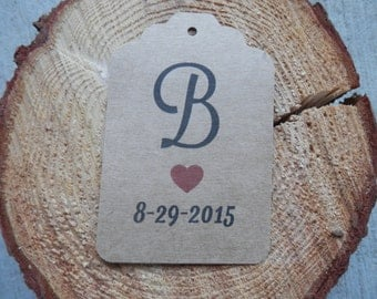 Custom Wedding favor tags set of 40  Personalized Wedding tags Wedding gift tags paper tags