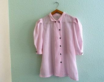 Vintage - retro - fripe - clothing vintage blouse pink shirt