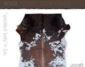 Cowhide Rug - Luxe brown and white hide