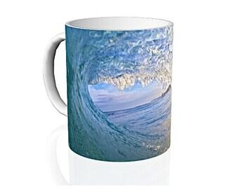 Morning Light Coffee Mug,Blue Ocean Coffee Cup,Hawaiian Coffee Mug,Coffee Lovers Gift,Hawaii Surf Mug,Coffee Mug Photography,Off The Wall