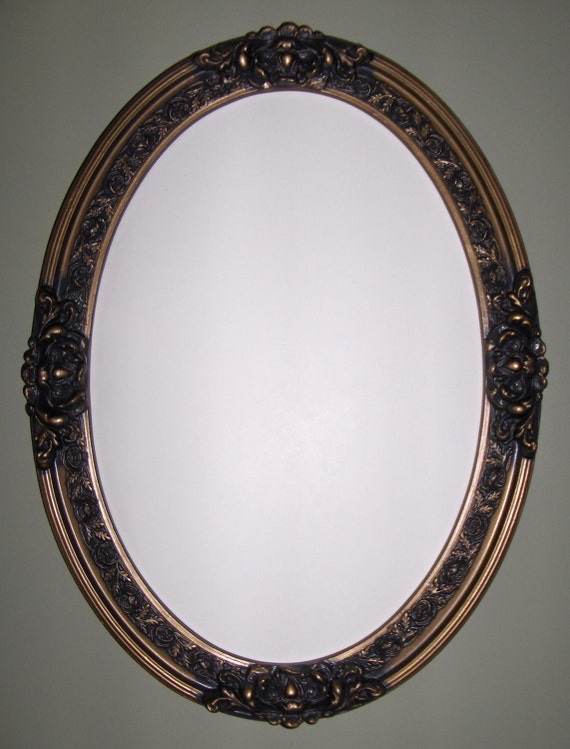 Oval mirror by wallaccents on etsy for Oval mirror canada