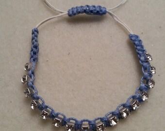 "Rhinestone ""Tennis type"" Bracelet"