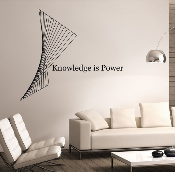 Knowledge is Power Wall Decal by SateoftheWall