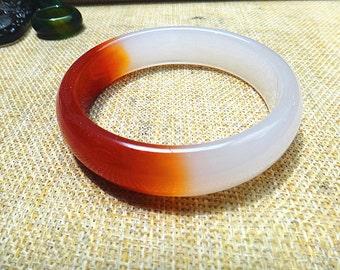 natural agate bracelet (inner diameter 57mm)