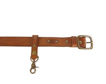 Leather key holder - leather keychain