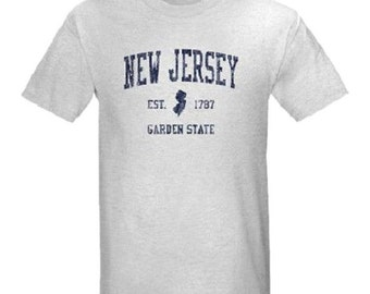 Vintage New Jersey T-Shirt All Sizes And Colors (NEW)