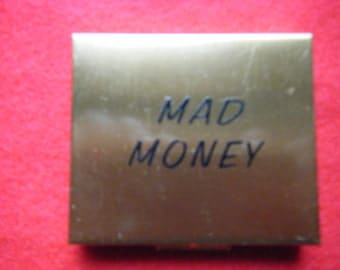 Vintage Mad Money Compact Coin Compact Trinket box