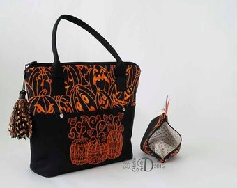 handbag pumpkin purse messenger bag pumpkin bag halloween handbag pumpkin tote - Halloween Handbag