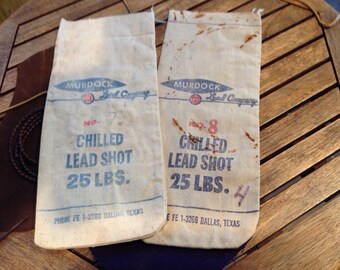 Vintage MURDOCK #7-1/2  & #8 Chilled Hard Lead Shot 25 lbs. Bag - MURDOCK Lead Co, Dallas Texas