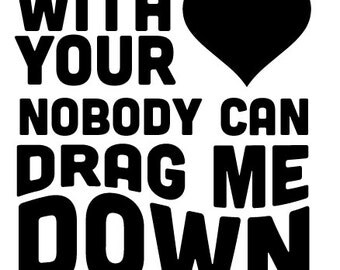 Drag Me Down - One Direction Vinyl Sticker Decal